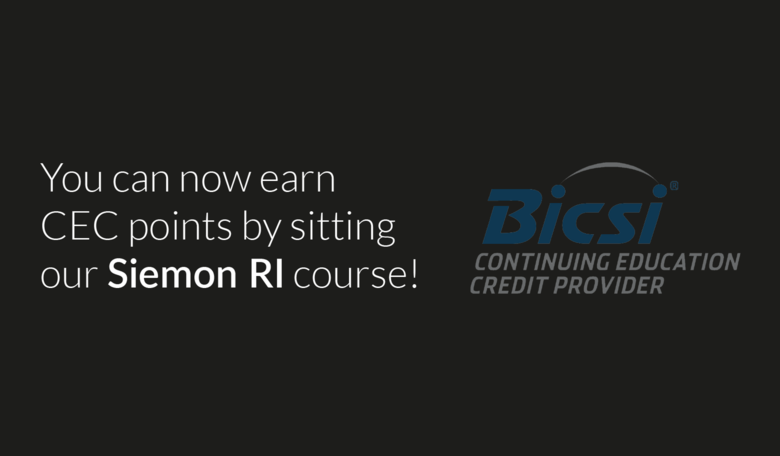 Our Siemon RI course is now BICSI Approved
