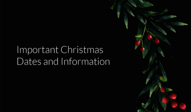 Christmas Dates and Information