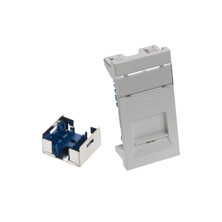 LEVITON GIGAPLUS 50X25 SLIMLINE SHUTTERED MODULE - SHIELDED - WHITE