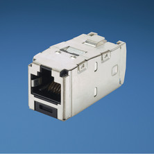 PANDUIT CATEGORY 6, RJ45, 8-POSITION, 8-WIRE UNIVERSAL SHIELDED BLACK MODULE WITH INTEGRAL SHIELD