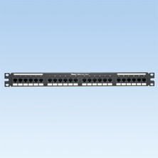 PANDUIT 24-PORT, CATEGORY 6, PATCH PANEL WITH 24 RJ45, 8-POSITION, 8-WIRE PORT