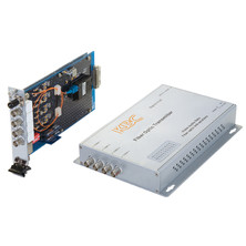 4 CHANNEL VIDEO ONLY RECEIVER, 4 MM FIBRE ST, 3U CARD