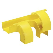PANDUIT 6X4 DUAL DOWNSPOUT FITTING  FITTINGS TO CREATE TWO 90 DEGREE 4X4 DOWNWARD TRANSITONS FROM HORIZONTAL RUN YELLOW