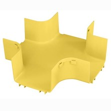 PANDUIT 6X4 FOUR WAY CROSS FITTING FOR 6X4 CHANNEL FITTINGS TO CREATE HORIZONTAL FOUR WAY CROSS INTERSECTION YELLOW