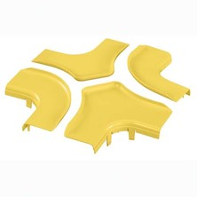 PANDUIT OPTIONAL SPLIT COVER FOR THE FOUR WAY CROSS FITTING FRFWC6X4YL YELLOW