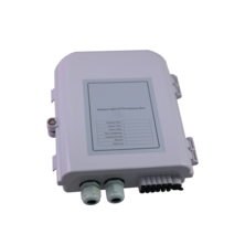 UNLOADED EXTERNAL RATED FIBRE TERMINATION BOX - TO ACCEPT UP TO 12 SCS OR 12 LCD ADAPTORS - 247 X 204 X 70MM