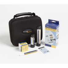 FIBRE CLEANING KIT WITH CUBE PEN 1.25+2.5MM SWABS 10 CARDS AND CASE