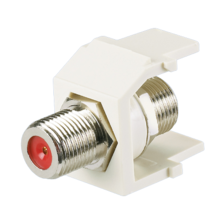 KEYSTONE MODULE SUPPLIED WITH 75 OHM INDUSTRY STANDARD F-TYPE COAX BULKHEAD COUPLER