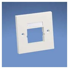 PANDUIT NETKEY 86MM X 86MM, SINGLE GANG FACE PLATE FRAME WITH LABEL. ACCEPTS ONE 1-2 SIZE MODULE INSERT