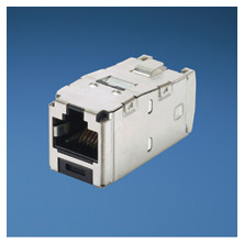 PANDUIT CATEGORY 6A, RJ45, 10 GB-S, 8-POSITION, 8-WIRE UNIVERSAL SHIELDED MODULE WITH INTEGRAL SHIELD