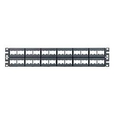 PANDUIT MODULAR PATCH PANEL WITH PLASTIC FRONT UNLOADED 48 PORT 2U