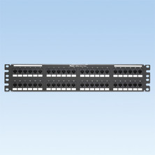 PANDUIT 48-PORT, CATEGORY 6, PATCH PANEL WITH 48 RJ45, 8-POSITION, 8-WIRE PORT