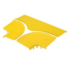 PANDUIT OPTIONAL SPLIT COVER FOR THE HORIZONTAL TEE FITTING YELLOW