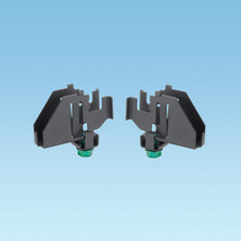 BLACK POWDER COATED INTERSECTION SPLICE CONNECTOR QUICKLY JOINS WYR-GRID PATHWAYS AT ALL INTERSECTIONS