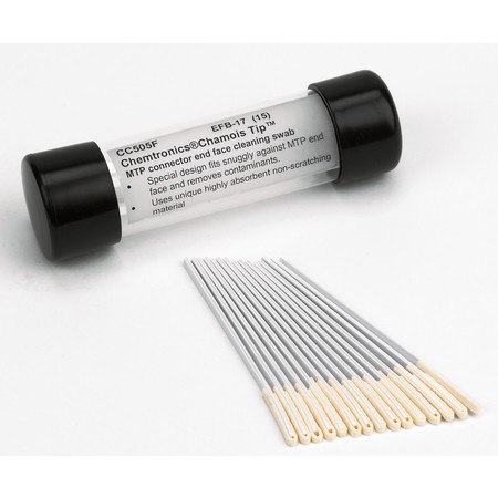 CHEMTRONICS MTP CONNECTOR CLEANING SWABS - PACK 25