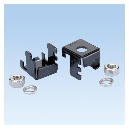 PANDUIT TWO PIECE LADDER RACK BRACKET FOR ATTACHING THREADED ROD TO 38.1MM - 50.8MM LADDER RACK RAIL
