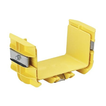 PANDUIT PRE-ASSEMBLED COUPLER QUICKLY JOINS 2 SECTIONS OF CHANNEL AND-OR FITTINGS YELLOW 6 X 4
