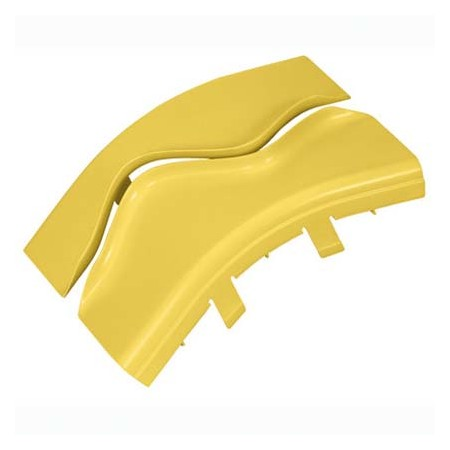 PANDUIT OPTIONAL SPLIT COVER FOR THE OUTSIDE VERTICAL 45 ANGLE FITTING FROV456X4YL YELLOW