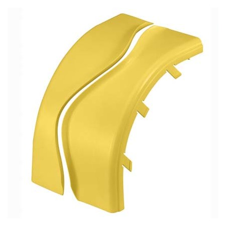 PANDUIT OPTIONAL SPLIT COVER FOR THE OUTSIDE VERTICAL RIGHT ANGLE FITTING FROVRA6X4YL YELLOW