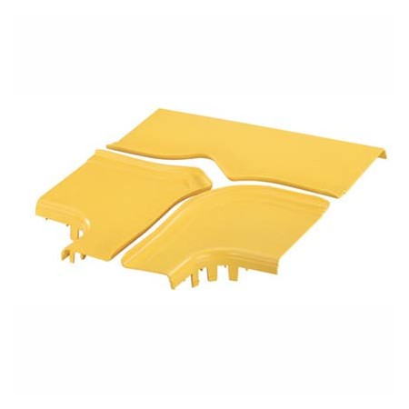 PANDUIT OPTIONAL SPLIT COVER FOR THE HORIZONTAL TEE WITH 6X4 EXIT YELLOW