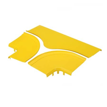 PANDUIT OPTIONAL SPLIT COVER FOR THE HORIZONTAL TEE FITTING FRT6X4YL YELLOW