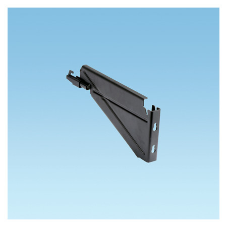 BLACK POWDER COATED BRACKET USED TO SUPPORT THE 12 INCH (305MM) WIDE WYR-GRID PATHWAY ALONG A WALL